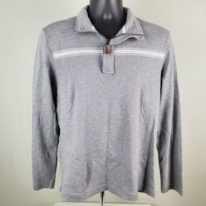 Banana Republic Zip Front Polo Sweater Top MD